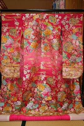1115色打掛ピンク梅の花