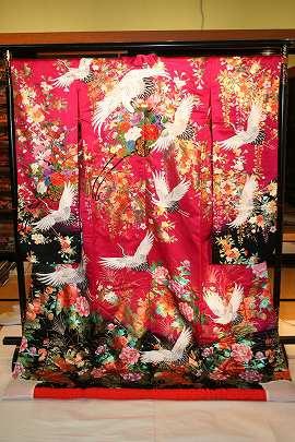 チェリーピンク鶴に花車
