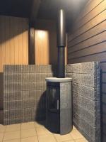 蓄熱性の高い石のストーブ、Hetaベーシックシリーズ ノルン ソープストーン